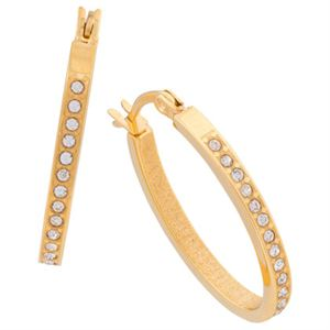 Picture of Crystal Hoops Gold