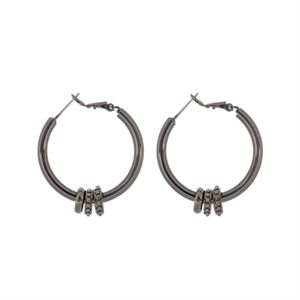 Picture of Ella Hoop Hematite Earrings